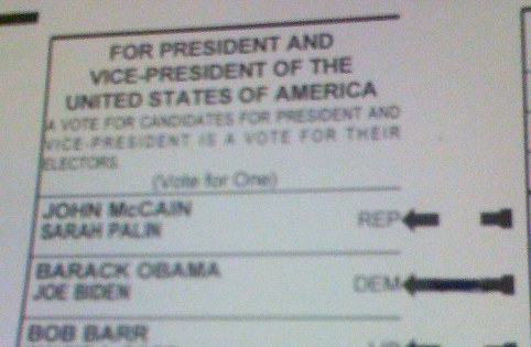 2008 Ballot Choice