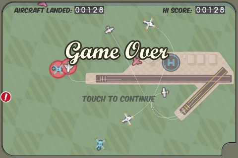 A picture from the game Flight Control for iPhone